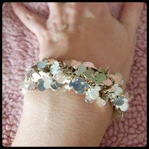 Disney Silver Mickey Mouse stretch bracelet